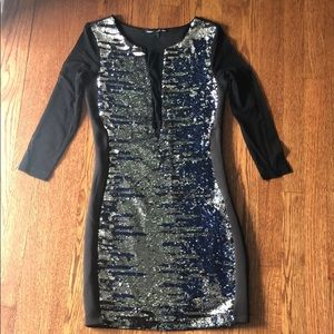 BeBe flip sequin dress